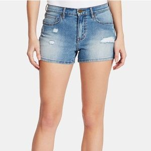 William Rast High Rise Denim Distressed Shorts